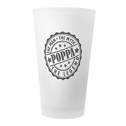 CafePress – Poppa – The Man The Myth The Legend – Pint-Glas, 16 oz Trinkglas frosted