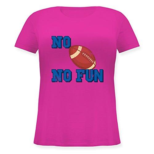 Sonstige Sportarten - No Football no Fun Vintage - L (48) - Fuchsia - JHK601 - Lockeres Damen-Shirt in großen Größen mit Rundhalsausschnitt