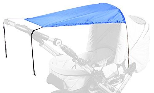 sunnybaby 13272 - Universal Sonnensegel für Kinderwagen & Sportwagen | Sonnenschutz | höchster UV Schutz UPF 50+ | verstellbar | Markisen-Rollofunktion - Farbe: ROYAL BLAU | Qualität: MADE in GERMANY