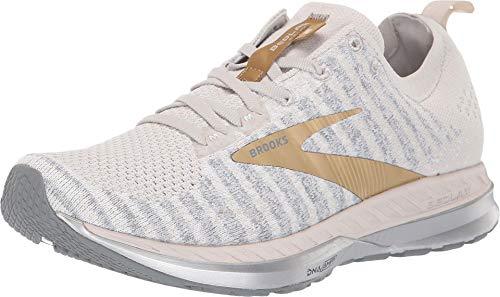 Brooks Womens Bedlam 2 Running Shoe - White/Grey/Gold - B - 9.0