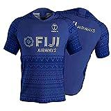 Maillot de Rugby pour Hommes, 2020 Fiji Sevens Rugby Polo Shirt T-Shirt d'entraînement, Fidji 7s Supporter Football T-Shirt Sport Top, Meilleur Cadeau d'anniversaire-XL