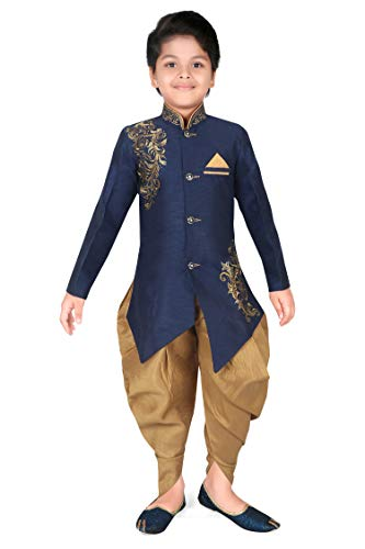 Kids Sherwani dhoti pant Handwork Embroidery - Indo western Ethnic...