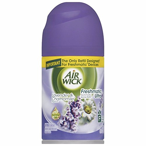 Air Wick Freshmatic Automatic Spray Air Freshener, Lavender and Chamomile Scent, 1 Refill, 6.17 Ounce (Pack of 4)