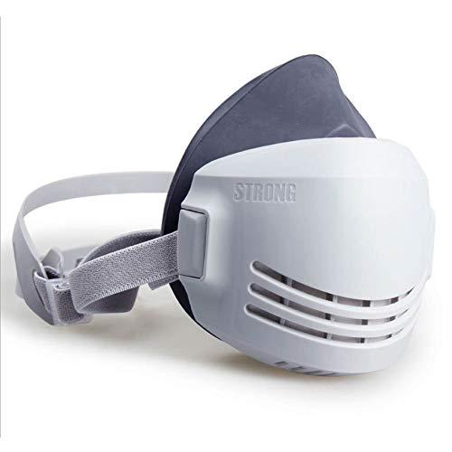 ONEWDJ, respiratore a mezza faccia, filtro, protezione per gli occhi, protezione delle vie respiratorie, maschere di protezione dalla polvere industriali, maschere antigas (con 5 filtri)