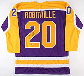 Luc Robitaille Autographed Signed Kings Jersey Beckett Coa 668 Nhl Goals /2002 Stanley Cup