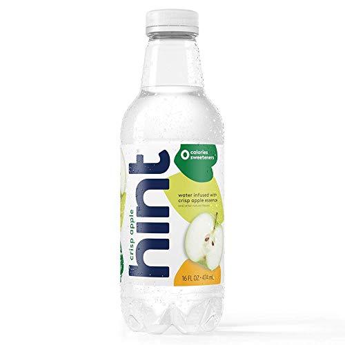 Hint Water Crisp Apple (Pack of 12), 16 Ounce Bottles, Pure Water Infused with Crisp Apple, Zero Sugar, Zero Calories, Zero Sweeteners, Zero Preservatives, Zero Artificial Flavors