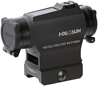 HOLOSUN HS515CU Circle Dot Sight, 2 MOA Dot, 65 MOA Circle, Motion Awake, Black