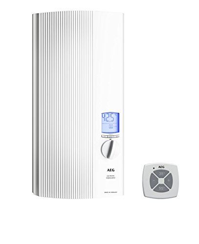 AEG vollelektronischer Durchlauferhitzer DDLE ÖKO TD, umschaltbar 18/21/24 kW, LCD, ECO-Funktion, Regendusche, 222398