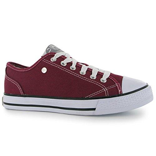 Dunlop - Zapatillas de Lona para Mujer, Color Rojo, Talla 36