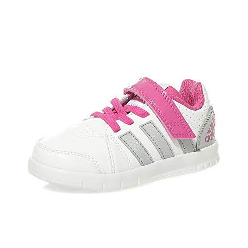 adidas Unisex Baby LK Trainer 7 EL I Sneaker, Weiß Grau Rosa Ftwbla Onicla Eqtros, 21 EU