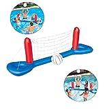 DT Fußball Rebounder Pool Volleybal Game - Aufblasbares Wasserballspiel - Volleyballnetz Pool Tor