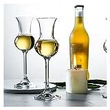 WLCO Italia Whisky degustazione Vetro Calice in Cristallo Nose Sherry Bicchieri da Vino Sommeliers Whisky Cocktail Occhiali Odore degustazione di Vetro Geometria Unica Multiuso 615 (Color : 1pcs)