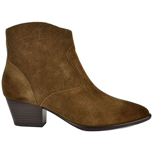 ASH Footwear Heidi Bis Russet Brushed Ankle Boot Russet 40 EU