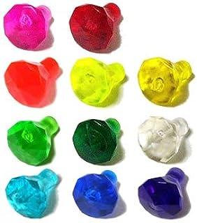 LEGOブロック・純正パーツ<岩石/宝石類>1 x 1(10mm x 7mm) 宝石 24 Facet (11個, Multi color) [並行輸入品]