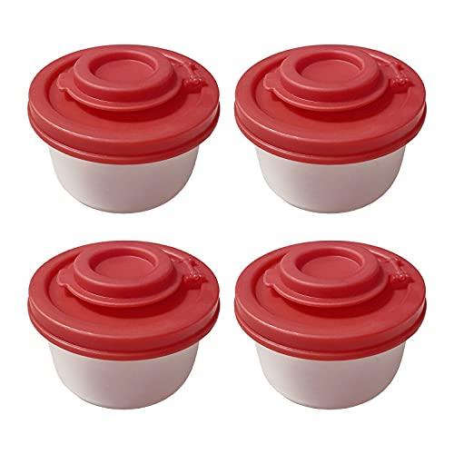 Salz Gewürzboxen - und Pfefferstreuer für unterwegs - 1/2/4pcs Mini Streuer Set für Salz und Pfeffer mit Deckel zum mitnehmen - Perfekt für Reisen, Camping und to-Go - Verschließbar (4pcs)