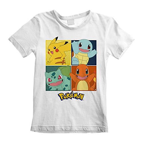 Pokemon Squares Jungen-T-Shirt Weiß 128