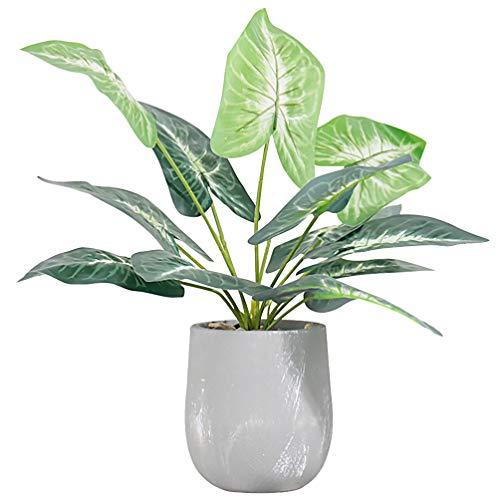 Garneck Kunstmatige Tropische Planten Ingemaakte Bonsai Palmbladeren Imitatie Faux Monstera Bladeren Pot False Voor Desktop Vensterbank Tv-Kast