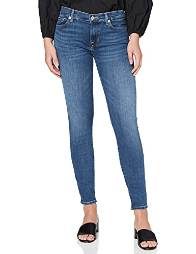 7 For All Mankind Damen The Crop Skinny Jeans, Blau (Bair Vintage Dusk 0EA), 40 (Herstellergröße:27)