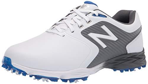 New Balance Men's Striker v2 Golf Shoe, White/Grey, 10.5