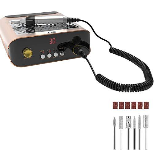 Mediawave Store - Fresa profesional con ventilador y aspirador 30.000 rpm 083020 NAIL SANDER M2, taladro para quitar gel uñas, centro estético, fresa taladro con 30.000 rpm, con kit de brocas fresa