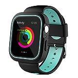 NICERIO Bracelet de Rechange pour Apple Watch Série 4 en Silicone avec Coque de...