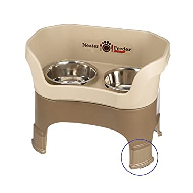 NEATER PET BRANDS Neater Feeder Deluxe with Leg Extensions (Large, Cappuccino)