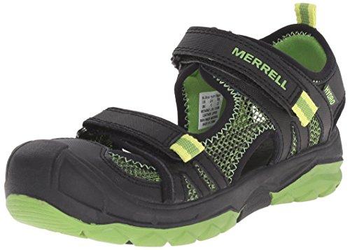 Merrell Merrell, Jungen Ml-B Hydro Rapid Sport- & Outdoor Sandalen, Black (Black/Green), 28 EU