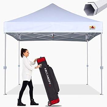 ABCCANOPY Commercial Ez Pop Up Canopy Tent 10x10 Premium-Series White