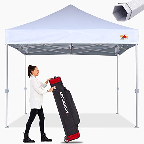 ABCCANOPY Commercial Ez Pop Up Canopy Tent 10x10 Premium-Series, White