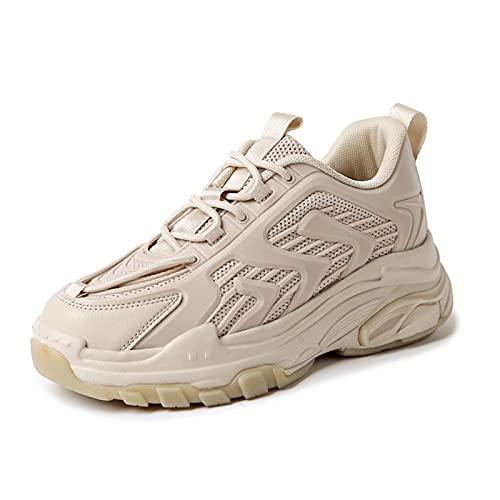 Cacagie Zapatillas altas deportivas para mujer, informales, modernas, caminatas para fitness, transpirables, cómodas, para correr, Color blanco., 43 EU