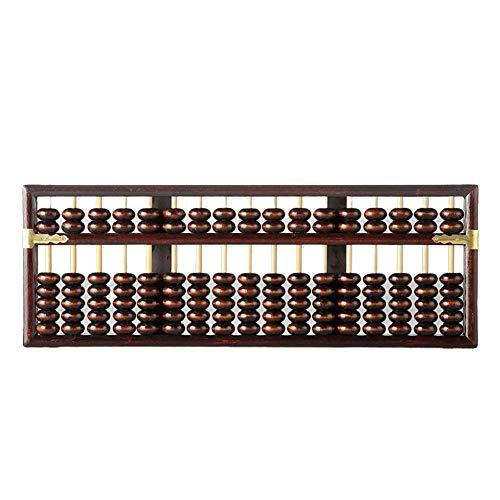 Soroban Mit 17 Ziffern, Stäbchen Holz Abacus, Chinesischer Taschenrechner Zählwerkzeug Für Das Mathematische Lernen In Der Schule, Professioneller 17-Spalten Rechner Für Die Bank Finanzbuchhaltung