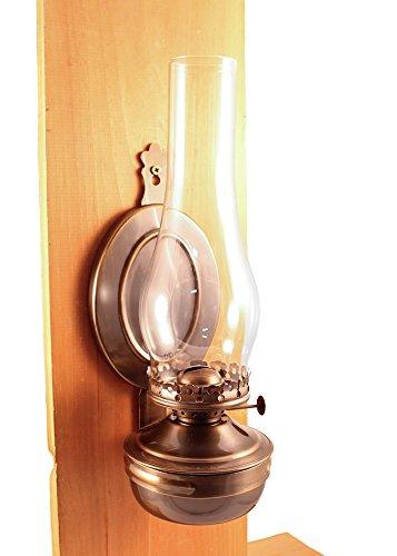 Vermont Lanterns 'Mansfield Brass Hanging Wall Oil Lamp 14' (Antique Brass)