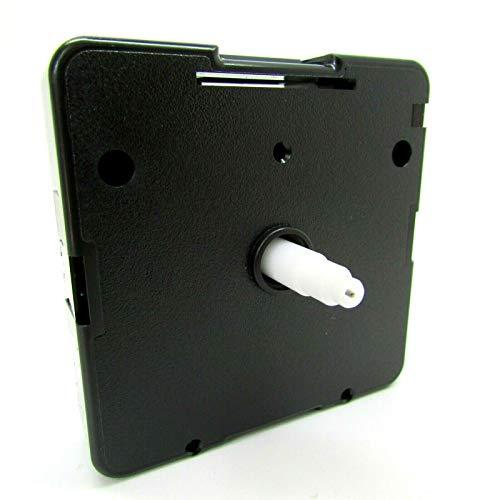 Nuevo Recambio Cuarzo Plástico Eje Uts Alemán Reloj Movimiento Mecanismo Motor - Negro, 16mm Shaft - Faces Up To 4-8mm