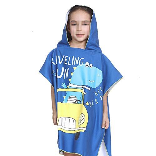 Strandhanddoek of badhanddoek met capuchon voor kinderen meisjes sneldrogende badhanddoek voor het zwembad poncho van katoen ultra absorberend badhanddoek katoen goud