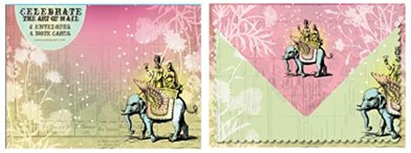 Flying Elephant Note and Envelope Set (Celebrate The Art of Mail)