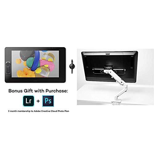 Wacom Cintiq Pro 24 Creative Pen Display – 4K Graphic Drawing Monitor with 8192 Pen Pressure and 99% Adobe RGB Bundle with Wacom ACK62804K Cintiq Pro VESA Mount