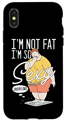 iPhone X/XS Fat Chubby Sexy Awesome Positivity Body Curvy Fitness Gift Case