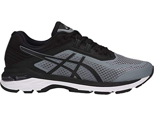 ASICS Men's GT-2000 6 Running Shoes, 12M, Stone Grey/Black/White