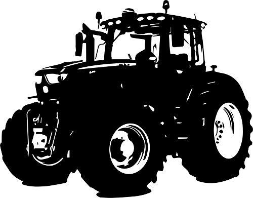 Wandtattoo – JOHN DEERE – Traktor, Landwirtschaft, Agra, Ackerschlepper // Farb- und Größenwahl (Schwarz - 780 mm x 600 mm)