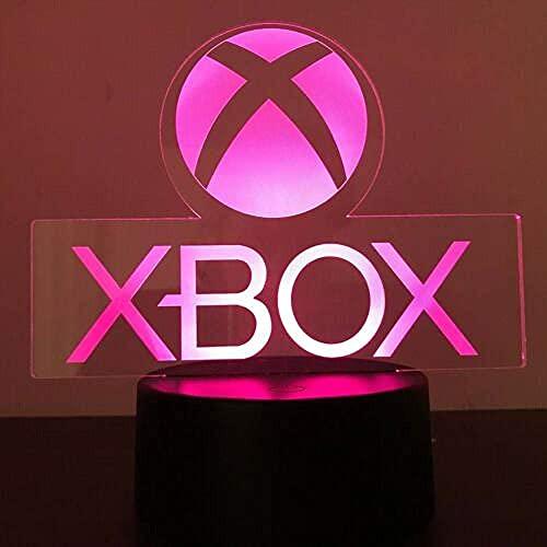 Xbox Gamer Games Logo 3D Acryl LED 7 Farben Nachtlicht Tischlampe Geschenk Touch Switch-Fernbedienung