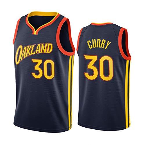 Golden State Warriors # 30 Basketball Jerseys, New Season City Edition Chaleco de baloncesto para hombre Ropa deportiva, Camiseta de malla transpirable al aire libre,Negro,S