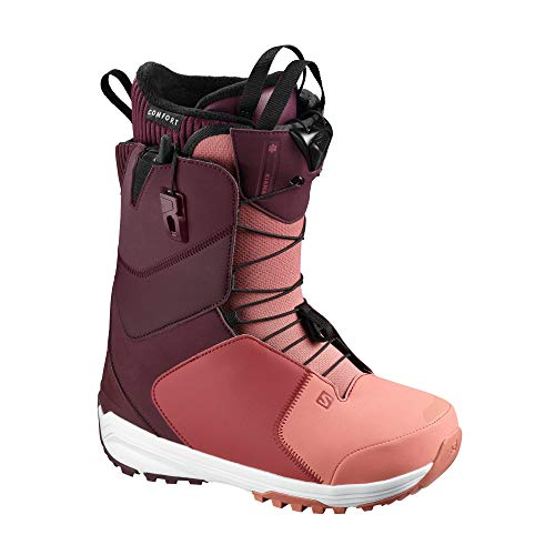 SALOMON Kiana Womens Snowboard Boots 38.5 EU Winetasting Brick Dust Apple Butter