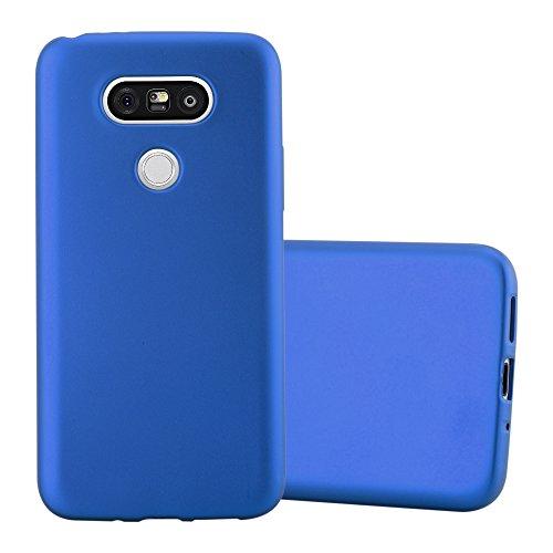 Cadorabo Custodia per LG G5 in AZZURRO METALLICO - Morbida Cover Protettiva Sottile di Silicone TPU con Bordo Protezione - Ultra Slim Case Antiurto Gel Back Bumper Guscio