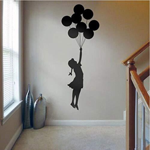 Banksy Muurstickers Floating Balloon Girl Banksy Art Wohnculturen Vinyl Muurtattoo zelfklevende graffiti DIY wooncultuur