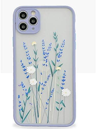Topwin iPhone 11 Pro 5 8 Case Translucent Acrylic Flower Design Girls Women Flexible Soft Rubber product image