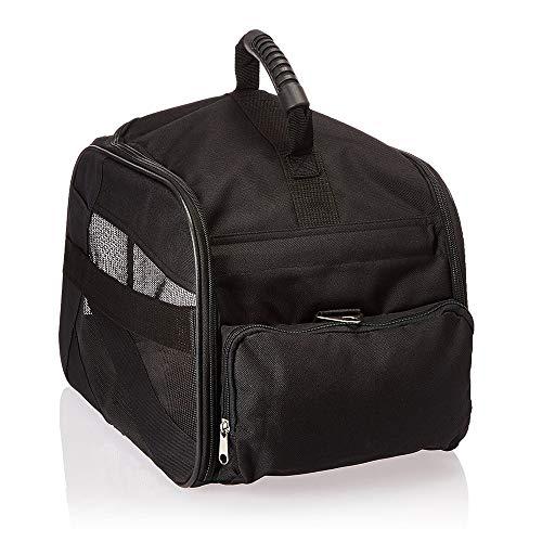 dbest products Pet Smart Transporttasche für Haustiere, mittelgroß, schwarz, weiche Seiten, faltbar, Reisetasche, für Hunde und Katzen, von Fluggesellschaften zugelassen, Tragetasche für Gepäck