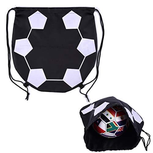 VerteLife Sport Balltasche Outdoor Training Tasche für Basketball Fußball Volleyball Ball-Aufbewahrungstasche Tragetasche Rucksack mit Kordelzug Turnbeutel Sportbeutel - Fußball Design