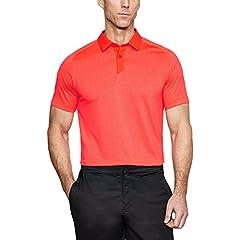 Under Armour Camiseta Tipo Polo Hombre Naranja Roja