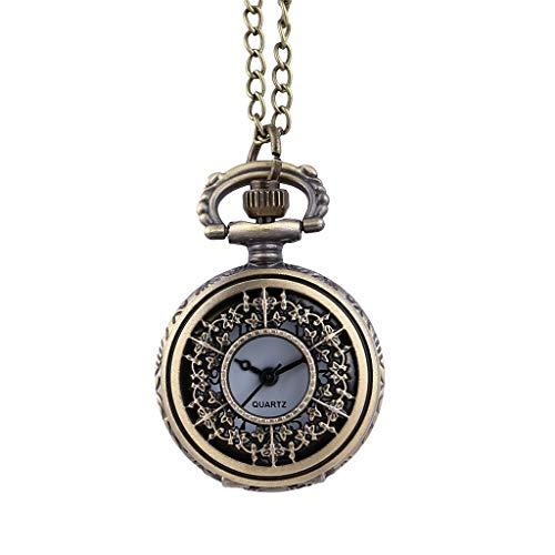 Cheap Muranba 2019 ! Vintage Flower Pocket Watch Quartz Necklace Chain Men Women for Girls Gifts