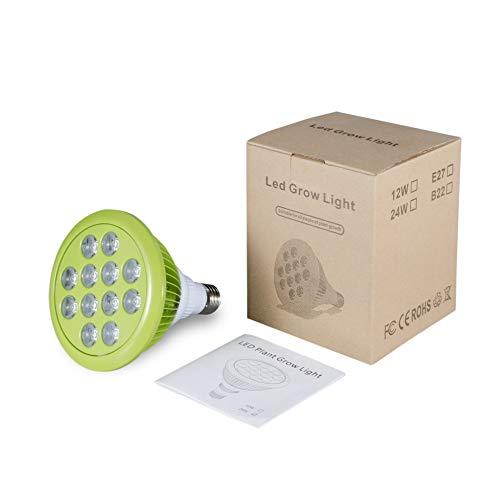 Bubbry 24W E27 12 LED-installatie groeilamp voor broeikas bloemen planten rood & blauw licht